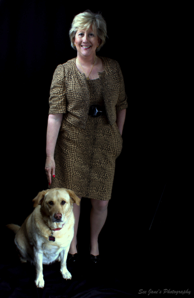 Sally Sparks with her dog Maisey